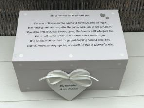 Personalised LARGE Memory Box ~ GRANDAD ~ Any Name ~ Bereavement In Memory Of - 332574176200